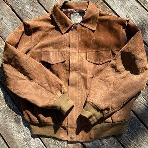 Vintage Genuine Brown Garment Leather Jacket
